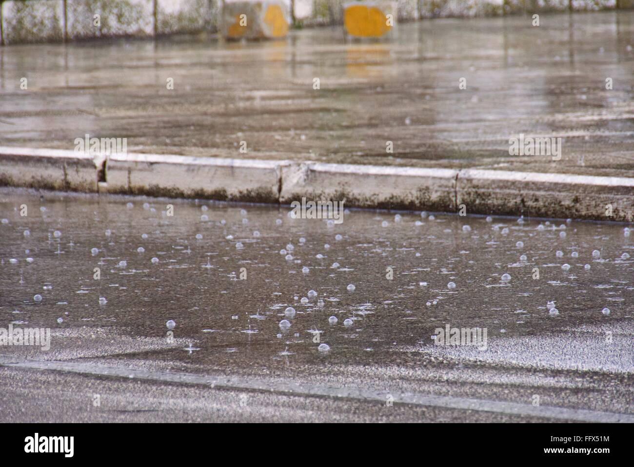 Rainfall On Street - Stock Image