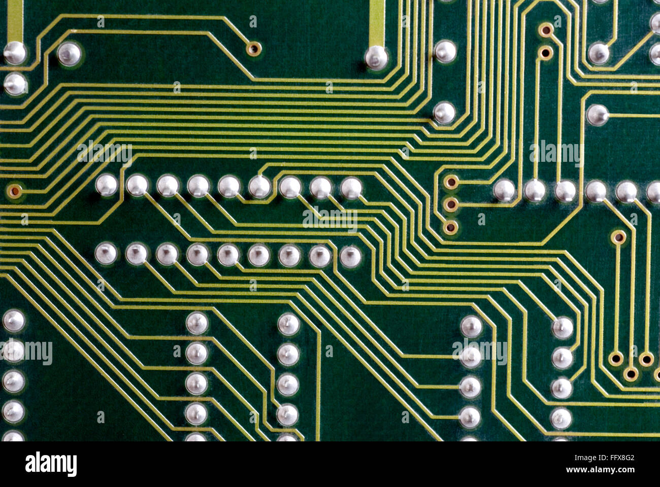 Printed Circuit Board Pcb Stock Photos 13 Royalty Free Image Green Electronic Yellow Tracks