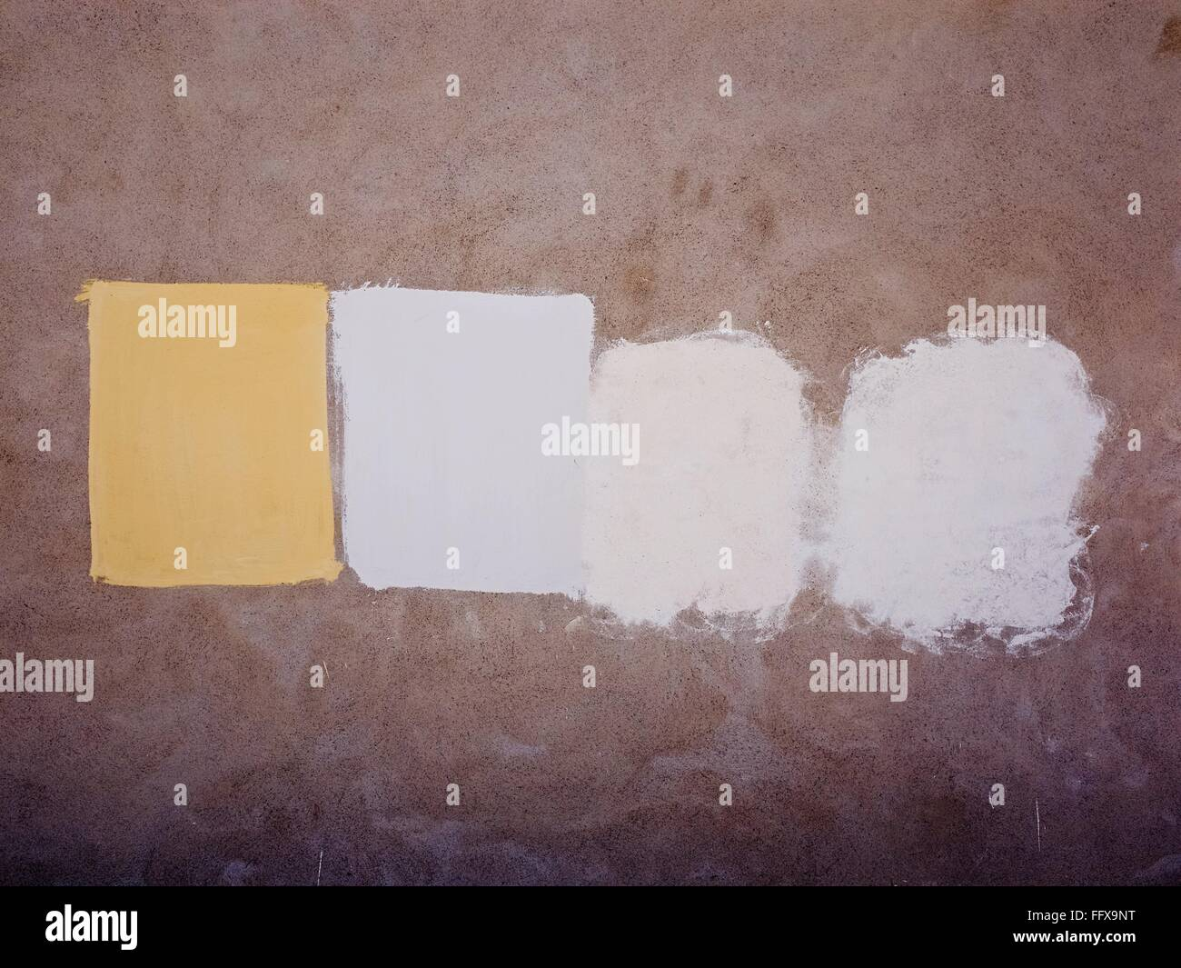 Paint Swatches On Wall - Stock Image