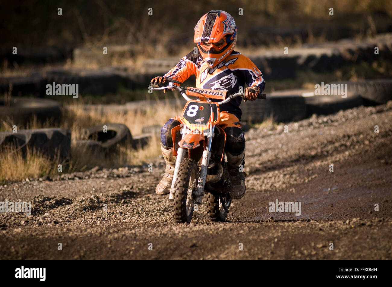 Junior Moto Cross X Child Rider Riding A Motor Motorcross Bike Bikes Off Road Scrambler Scrambling Cycles Motorbike