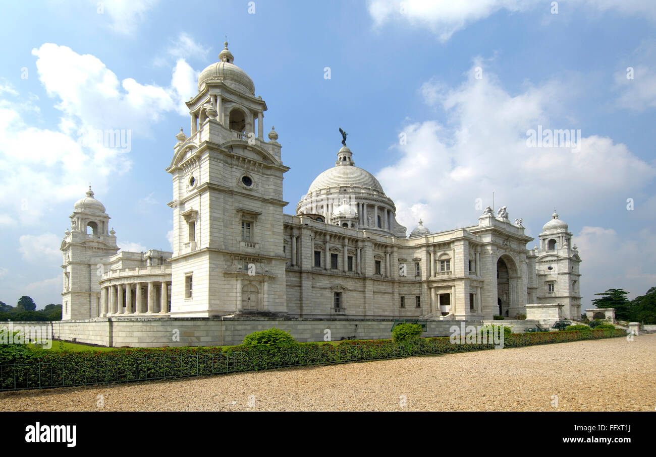 Victoria Memorial monument dome with moving angel statue , Calcutta now Kolkata , West Bengal , India - Stock Image