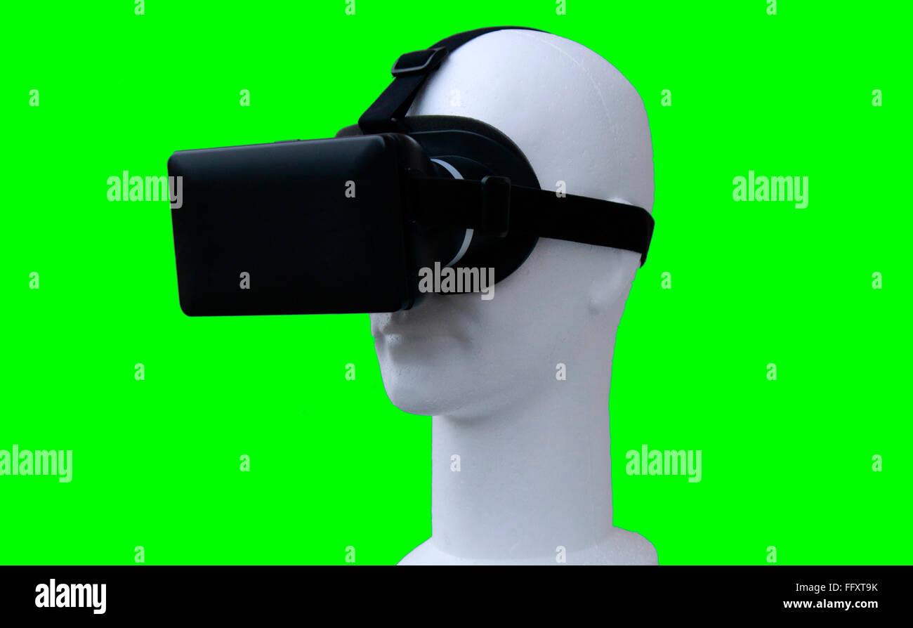 Symbolbild VR/ Virtuelle Realitaet - Datenbrille. Stock Photo