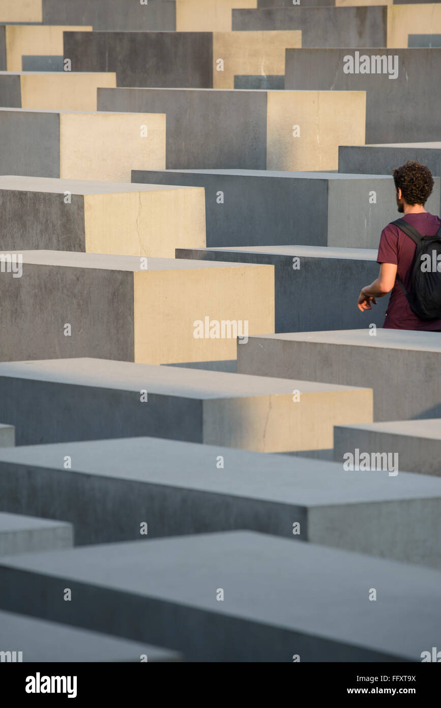 Berlin. Germany. Holocaust Memorial / Memorial to the Murdered Jews of Europe. - Stock Image