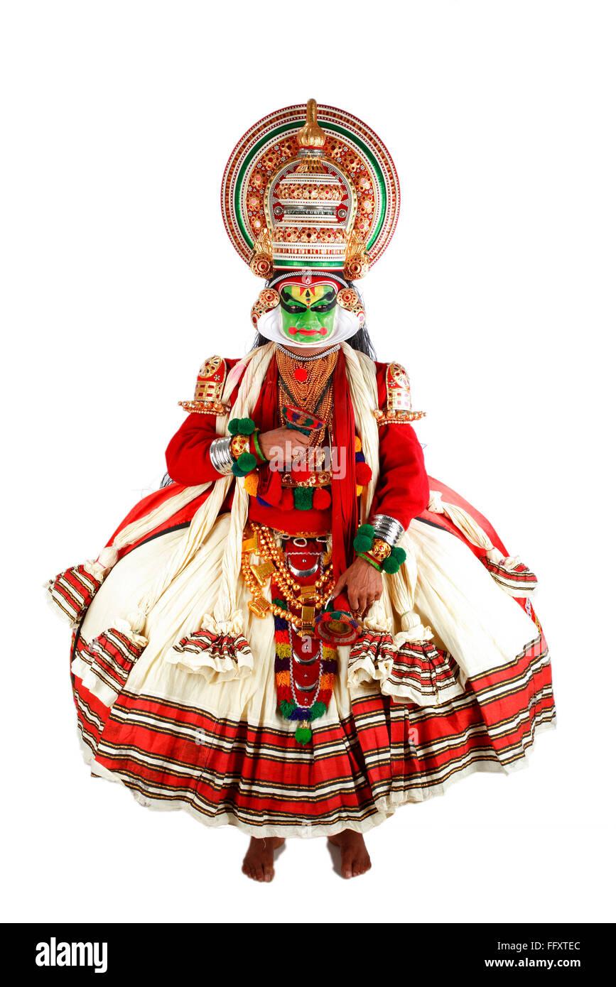 South Indian kathakali dancer performing ; Kerala ; India MR#761C - Stock Image