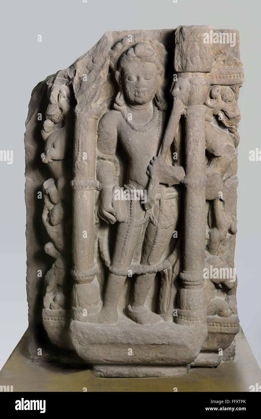 Bhairav 10th  century AD Shaiv cult , Kalchurian period found at Doni village district Damoh , Madhya  Pradesh , - Stock Image