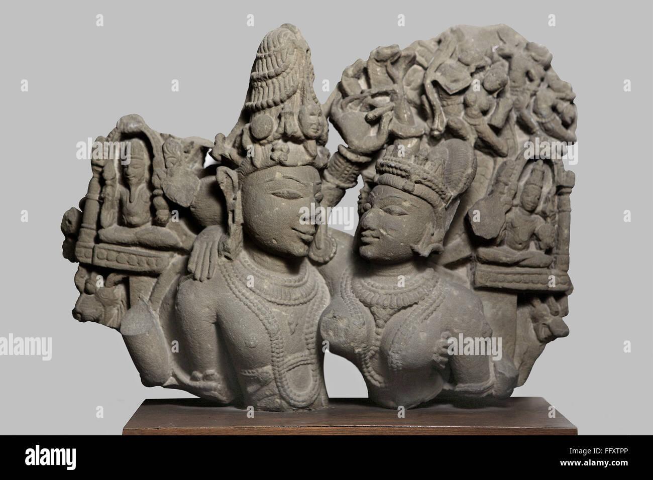 Uma Maheshwar 10th  century AD Shaiv cult , Kalchurian period found at Tewar village district Jabalpur Madhya  Pradesh - Stock Image