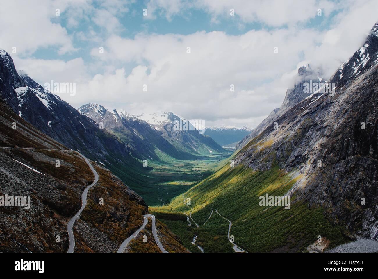 Idyllic Shot Of Trollstigen In Andalsnes Against Sky - Stock Image