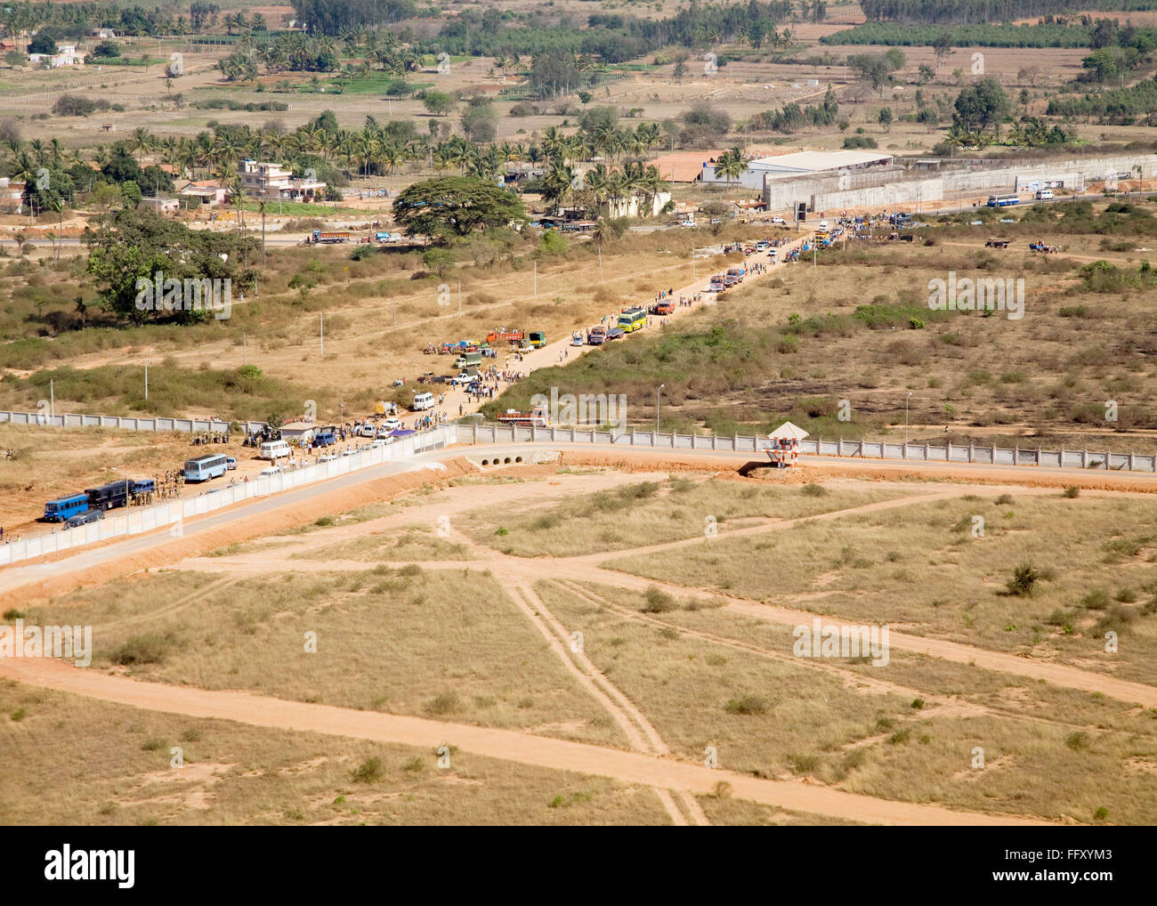 Graphical look of land from kingfisher airbus Stock Photo