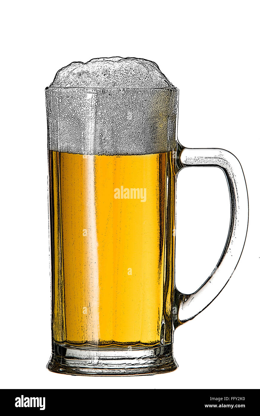 draw beer cut out stock images pictures alamy