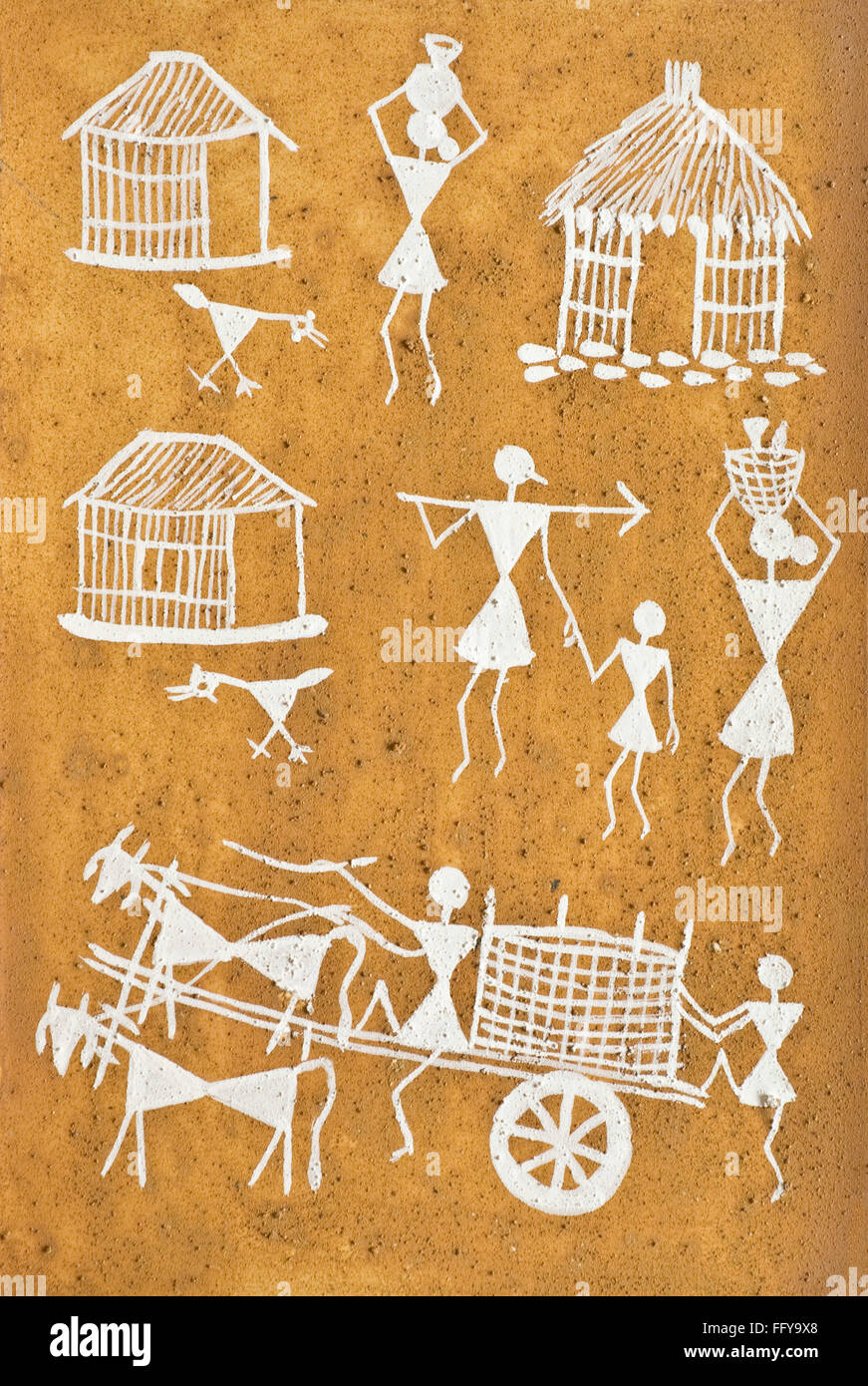 Warli Art High Resolution Stock Photography And Images Alamy