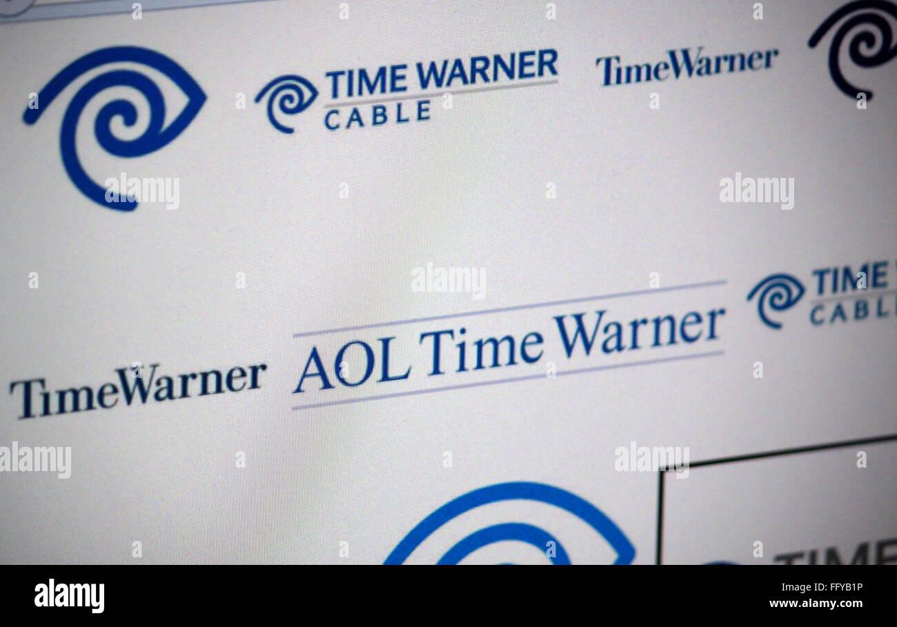 Markenname: 'Time Warner'. - Stock Image