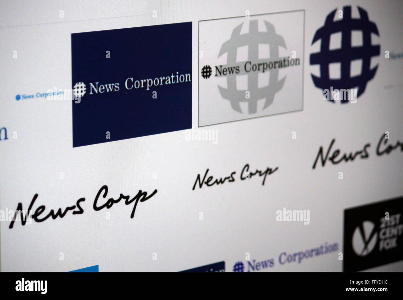 Markenname: 'News Corporation'. - Stock Image