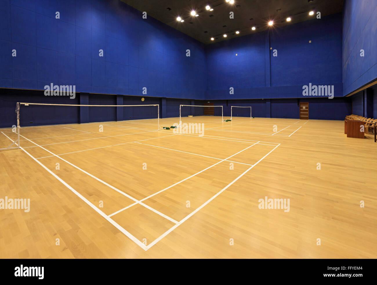 Badminton hall of national sports club ; Worli ; Bombay Mumbai ; Maharashtra ; India - Stock Image