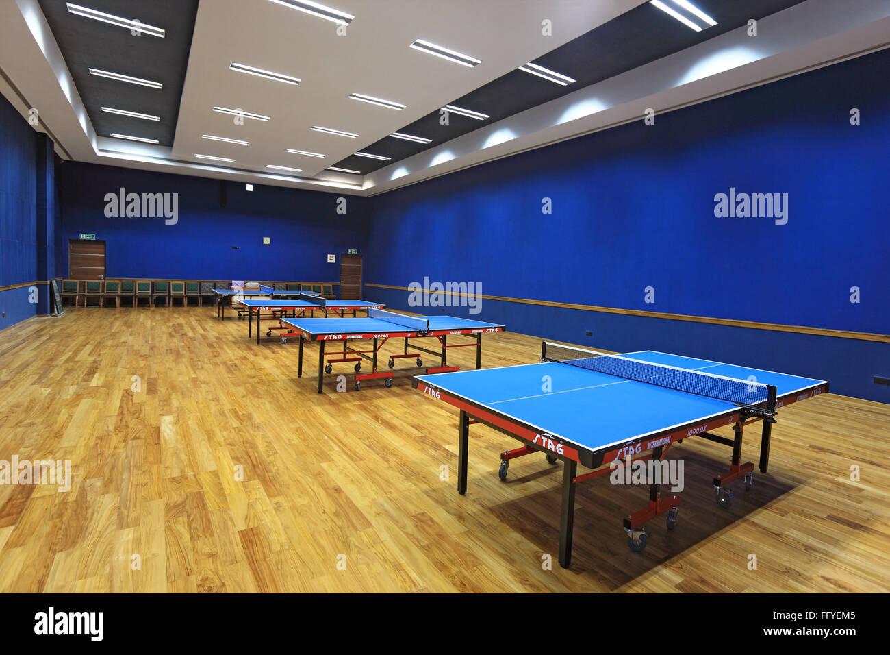 Table tennis hall of national sports club ; Worli ; Bombay Mumbai ; Maharashtra ; India - Stock Image