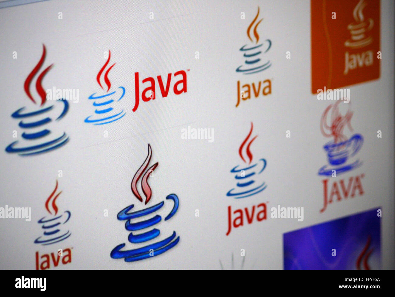 Markenname: 'Java'. - Stock Image