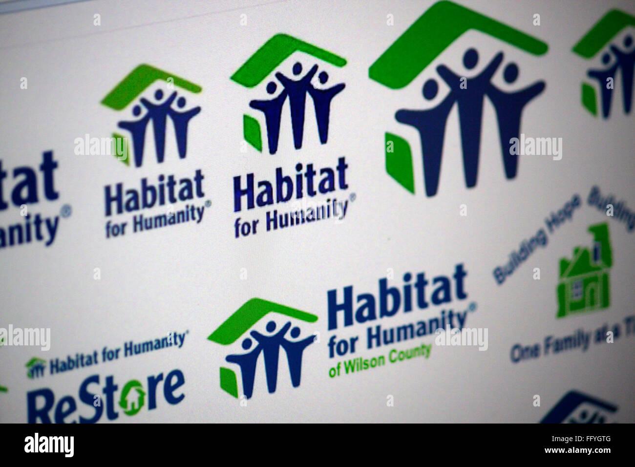 Markenname: 'Habitat for Humanity'. - Stock Image