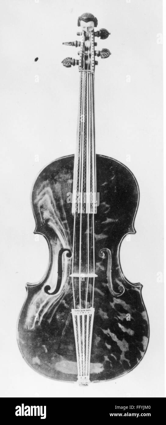 music, instruments, bowed instruments, violin, about 18th century, stringed instrument, stringed instruments, string - Stock Image