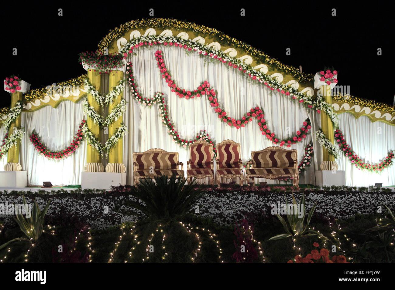 Indian Wedding Reception Decoration Flowers Stock Photos Indian