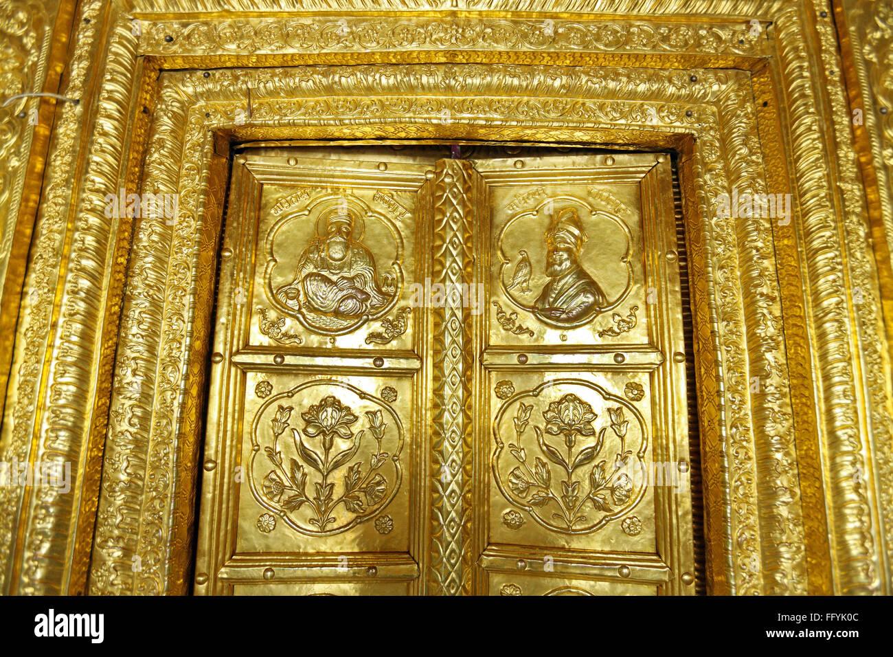 Gold Plated Door Gurudwara Hazur Sahib SachKhand Nanded Maharashtra India