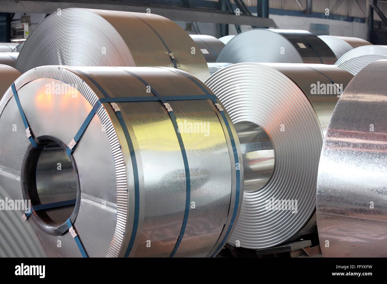 Galvanised Steel Sheet India - Stock Image