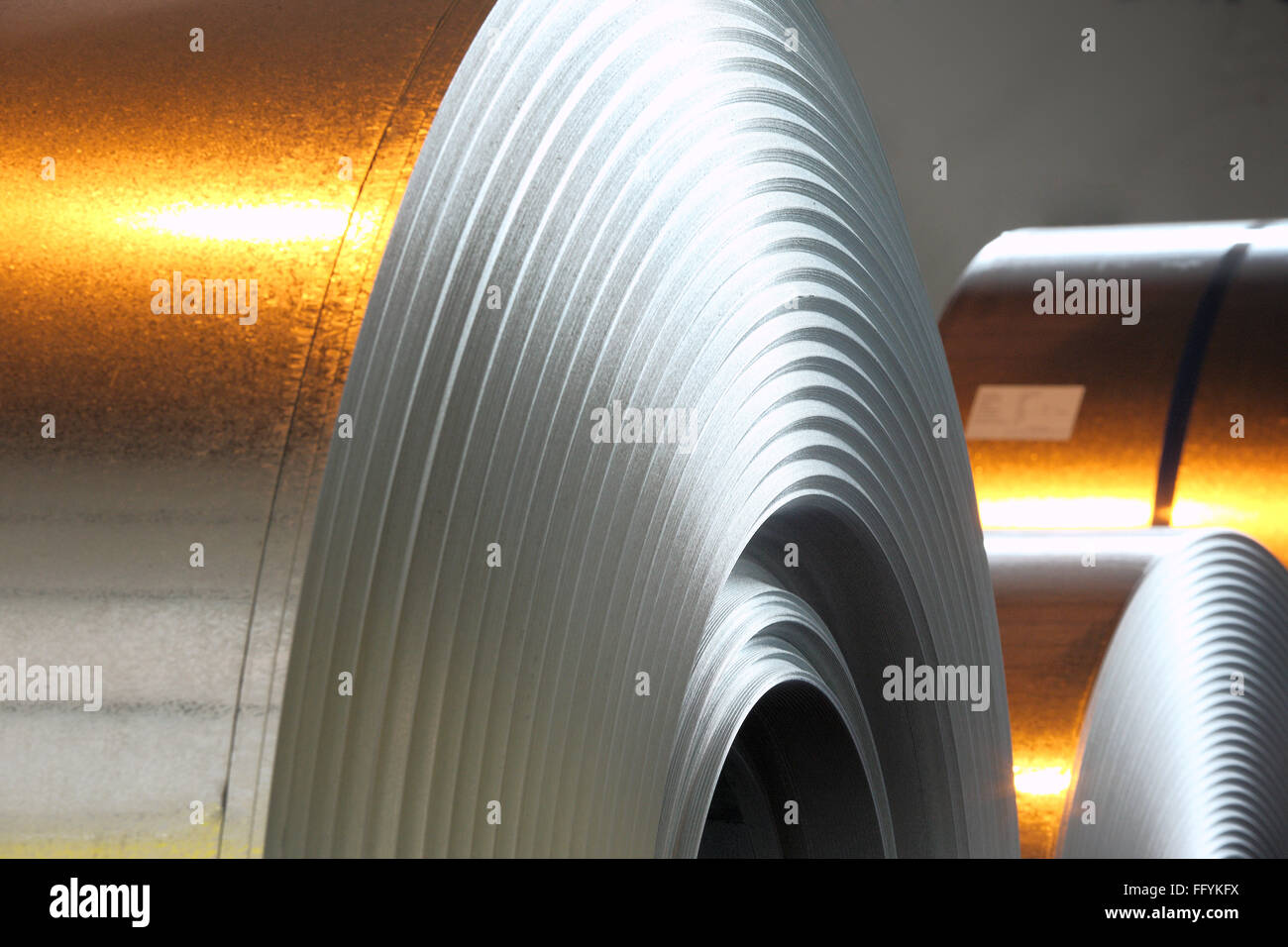 Galvanised Steel Sheet India Stock Photo