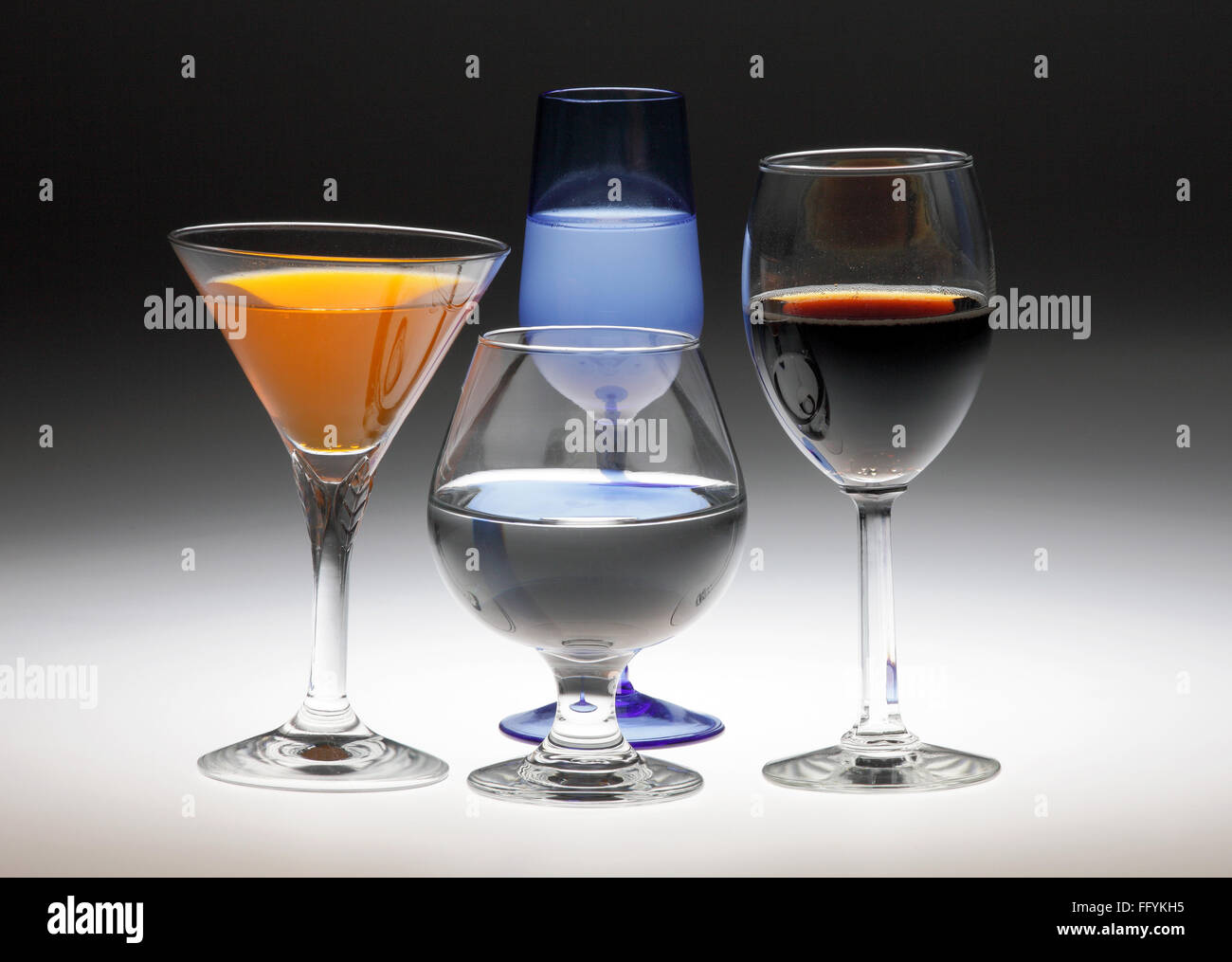 Drinking Glasses Glassware India - Stock Image