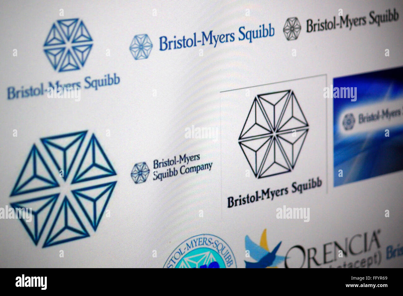 Markenname: 'Bristol Myers Squibb'. - Stock Image