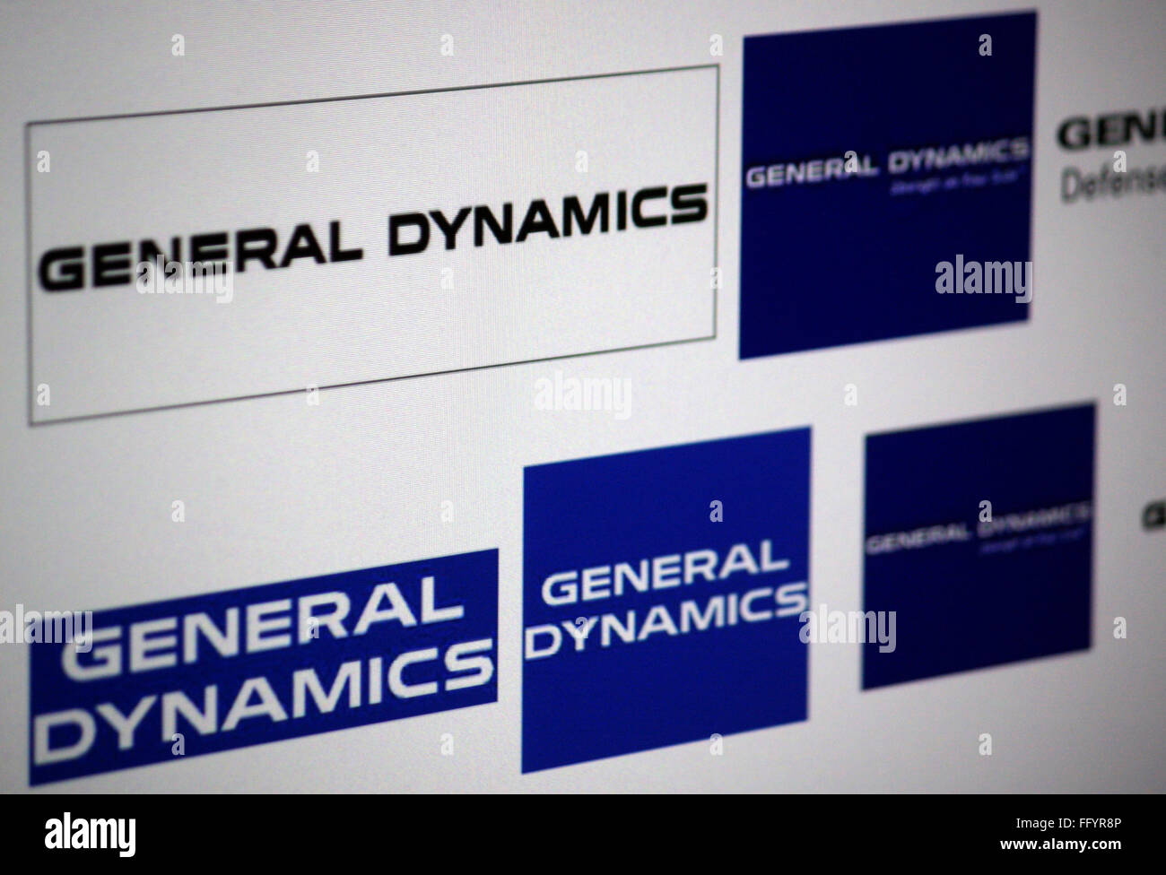 Markenname: 'General Dynamics'. - Stock Image