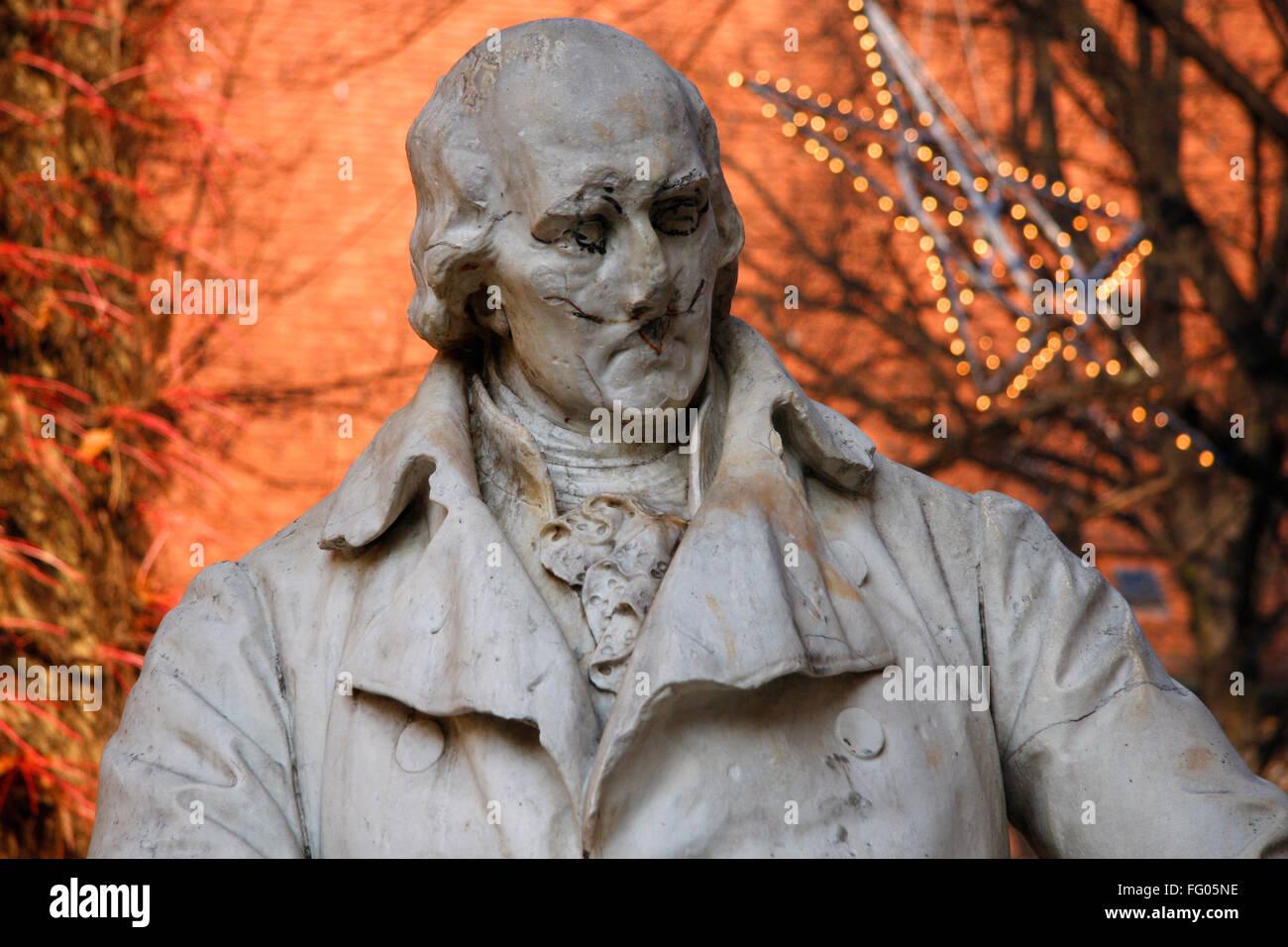 Denkmal: Freiherr von Stein, Berlin-Spandau. - Stock Image