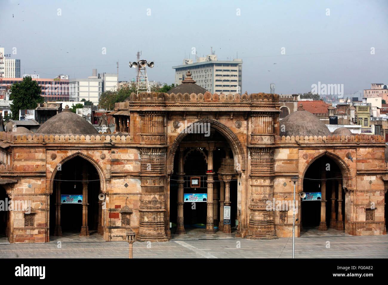 Teen darwaza of jama masjid in 1423 AD ; Ahmedabad ; Gujarat ; India
