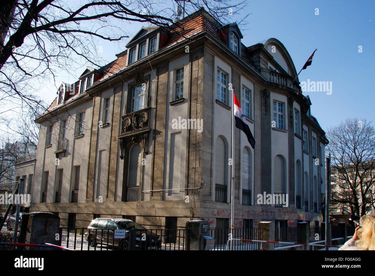 syrische Botschaft, Berlin-Tiergarten /Embassy of Syria, Berlin. - Stock Image
