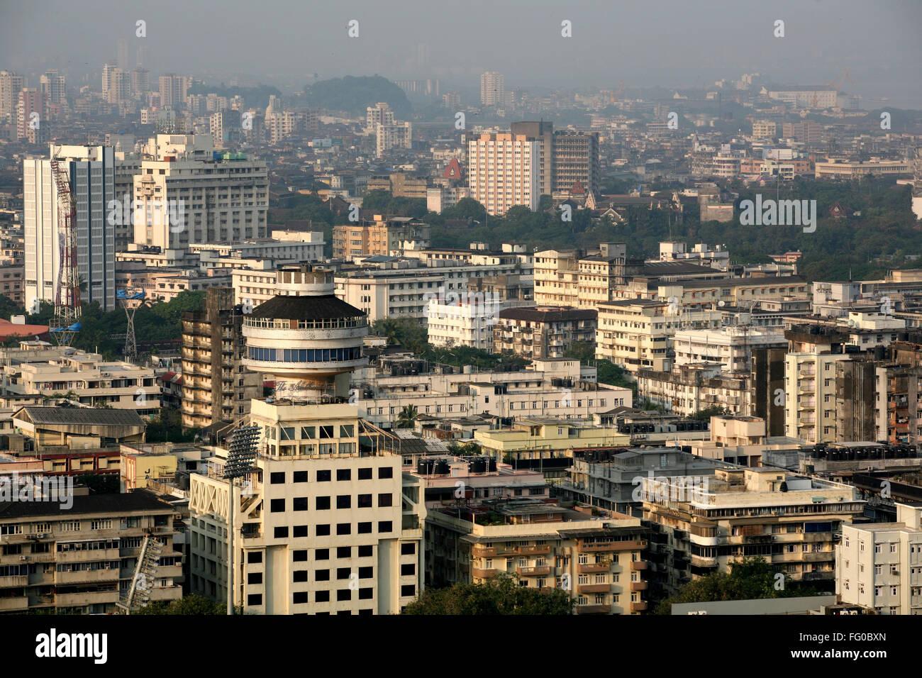 Aerial view of art deco building with hotel Ambassador , Bombay Mumbai , Maharashtra , India - Stock Image