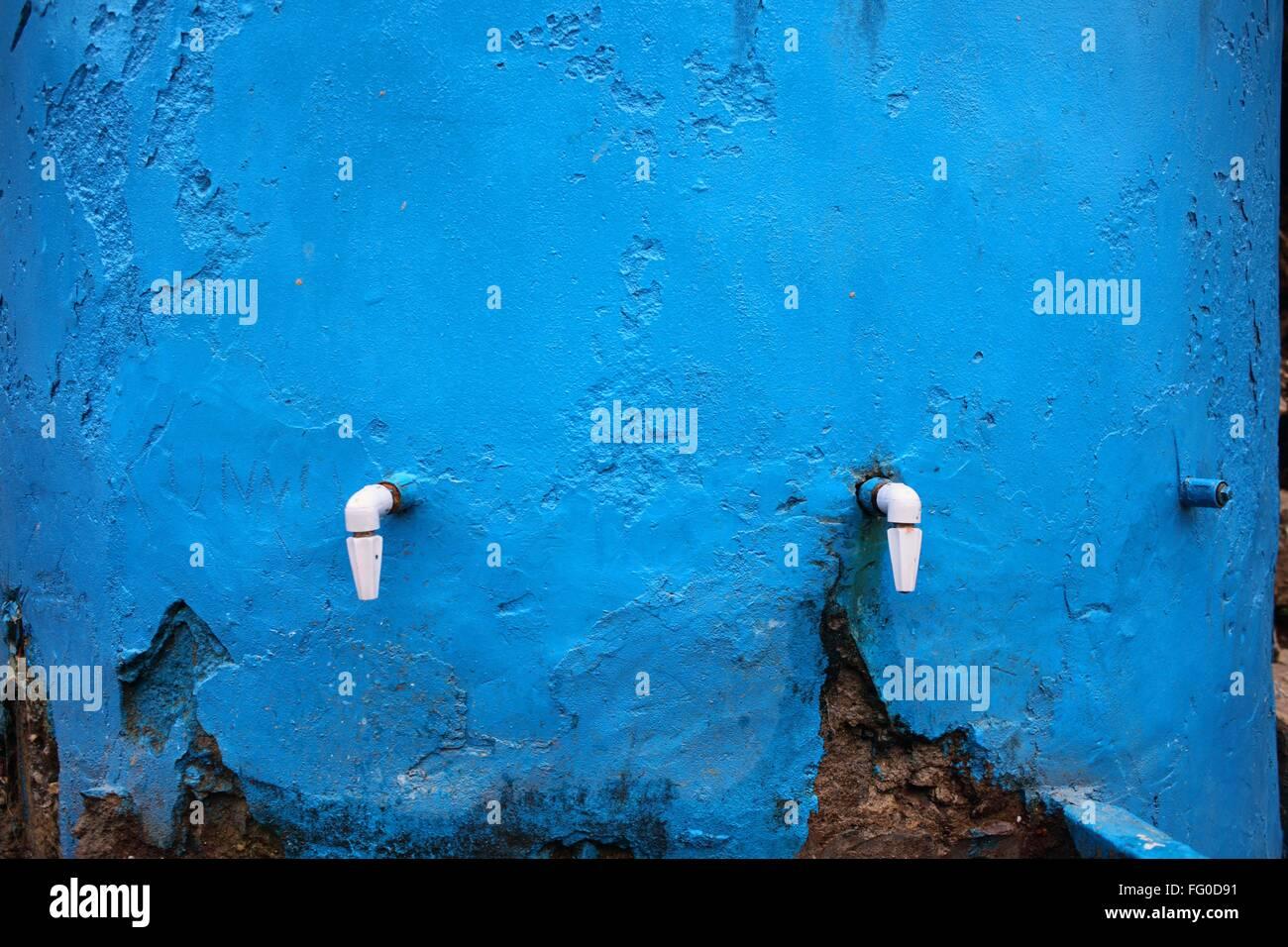 Taps of water tank Rudraprayag Uttarakhand India Asia - Stock Image