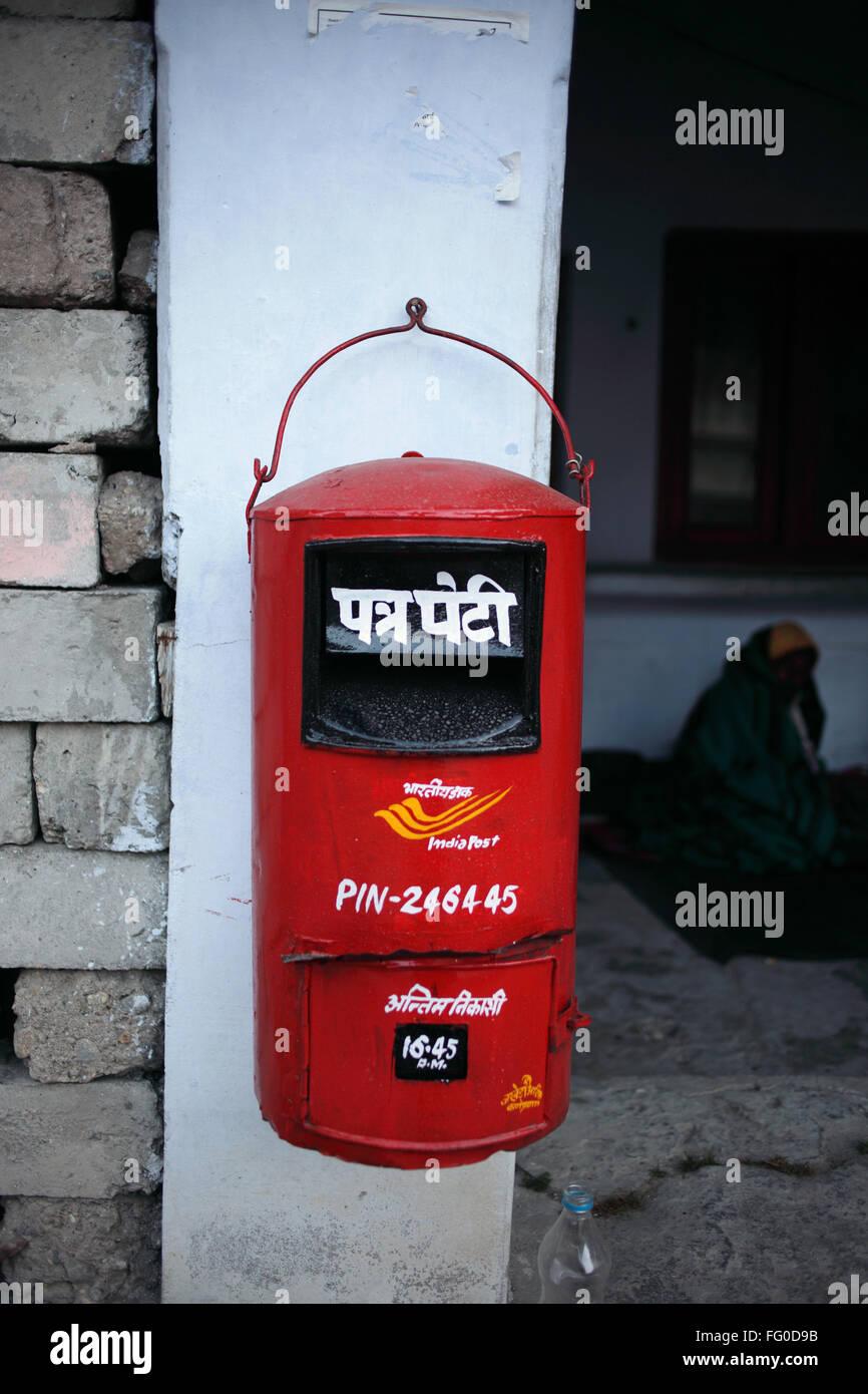 Letter box Uttarakhand India Asia - Stock Image