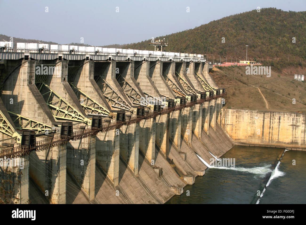 Chandil Dam Hydro electric power project 2x4 MW capacity at Chandil , Saraikela Kharsanwa district of Jharkhand - Stock Image