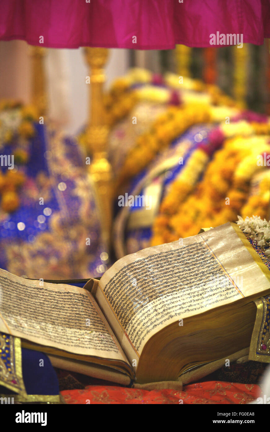 Guru Granth Sahib Holy Book Stock Photos Guru Granth Sahib Holy