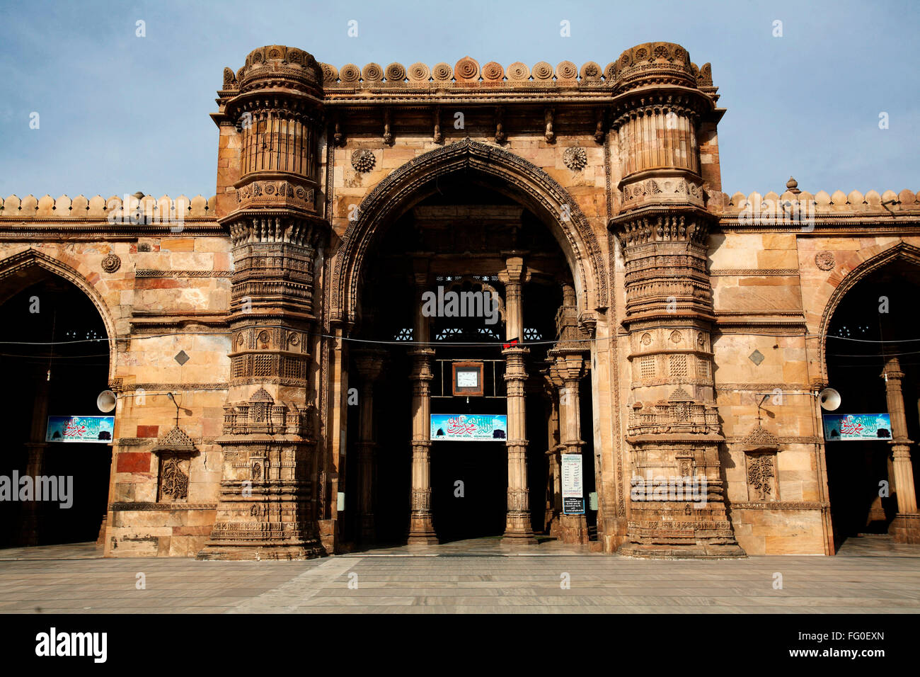 Teen darwaza of jama masjid in 1423 AD ; Ahmedabad ; Gujarat ; India
