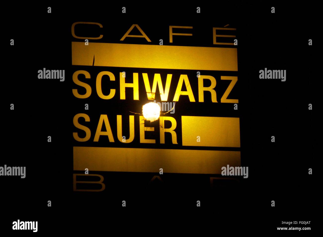 Markenname: 'Schwarz Sauer', Berlin. - Stock Image