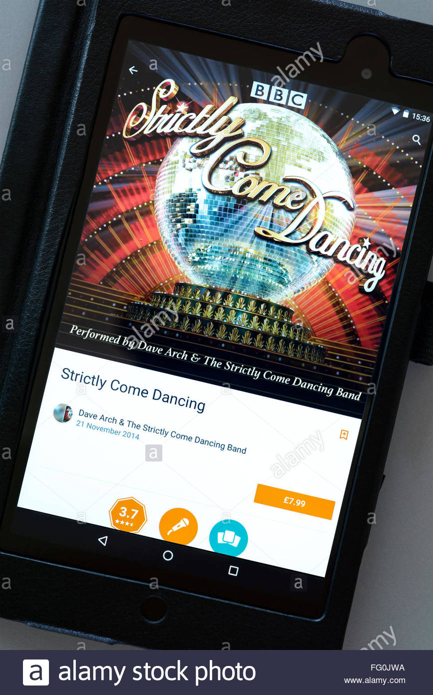 Strictly Come Dancing app on an android tablet PC, Dorset, England, UK - Stock Image