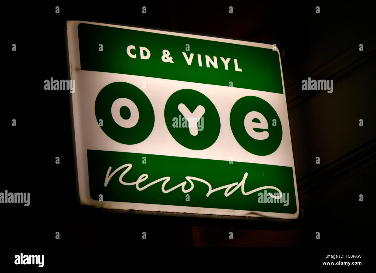Markenname: 'Oye Records', Berlin. - Stock Image