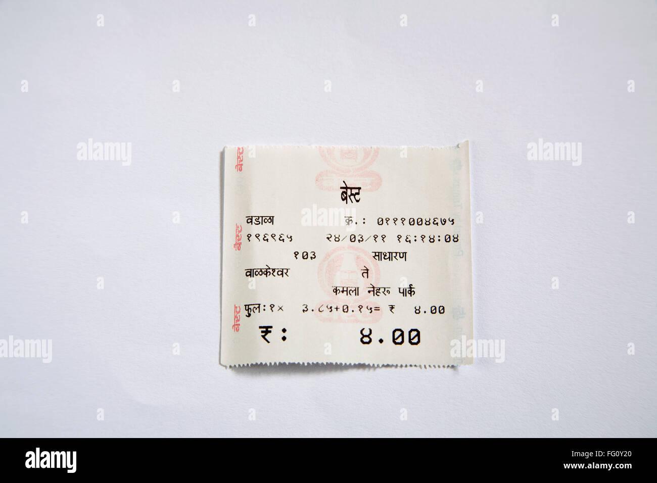 Electronic local best bus ticket mumbai Maharashtra india