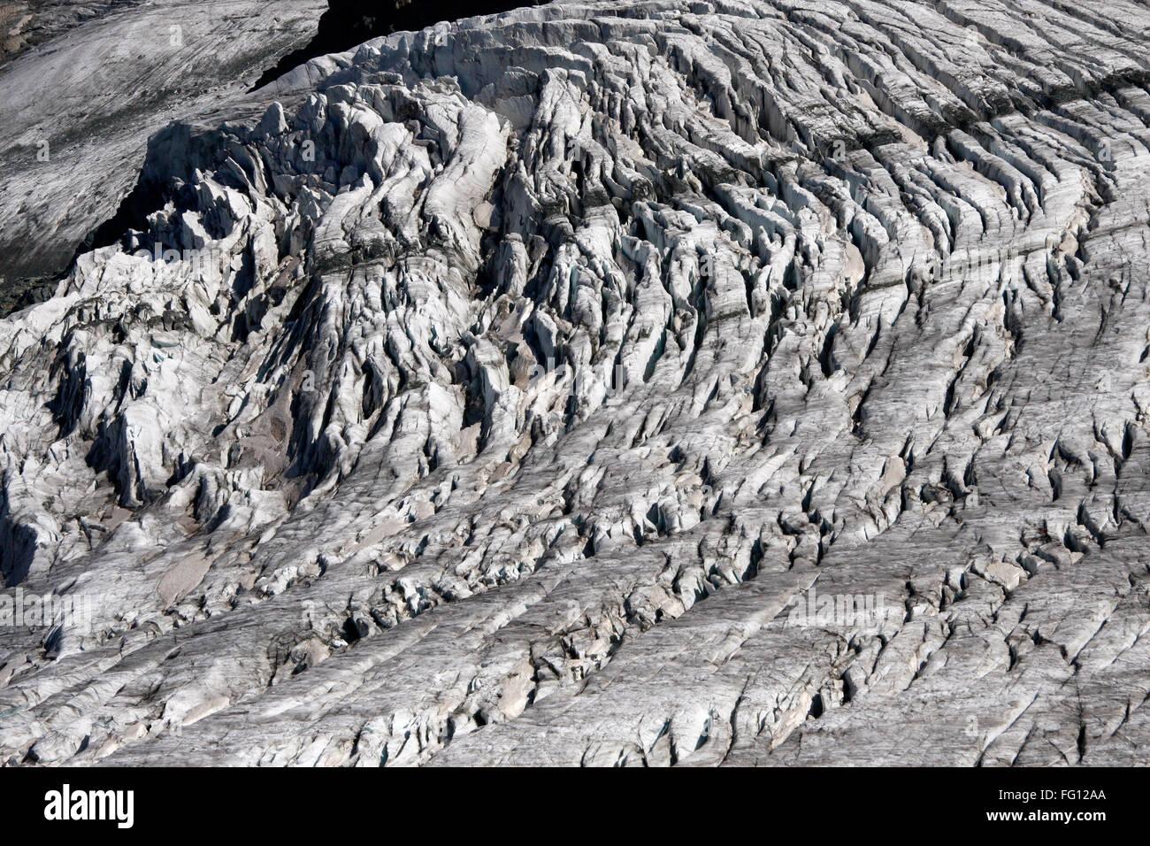 Thedodulgletscher am kleinen Matterhorn. - Stock Image