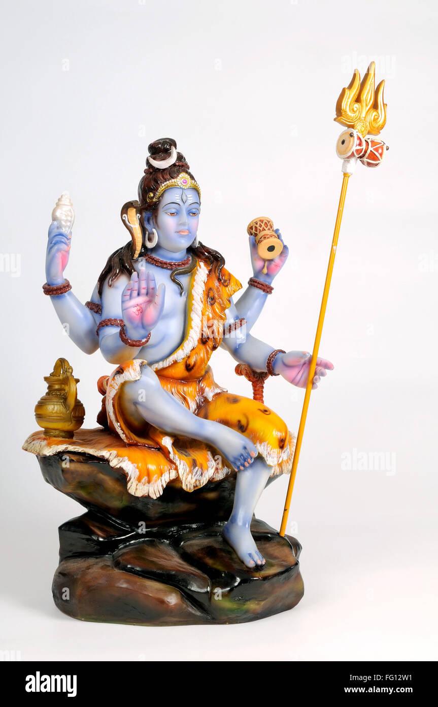 Statue of lord shiva ; India - Stock Image