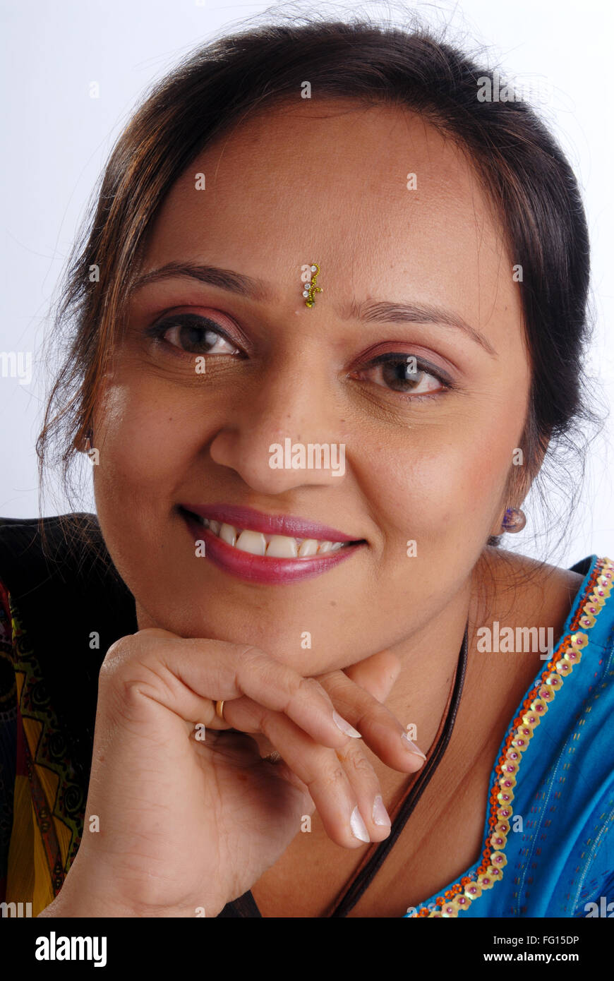 Close Ups Of South Asian Indian Woman Smiling Face Mr 364