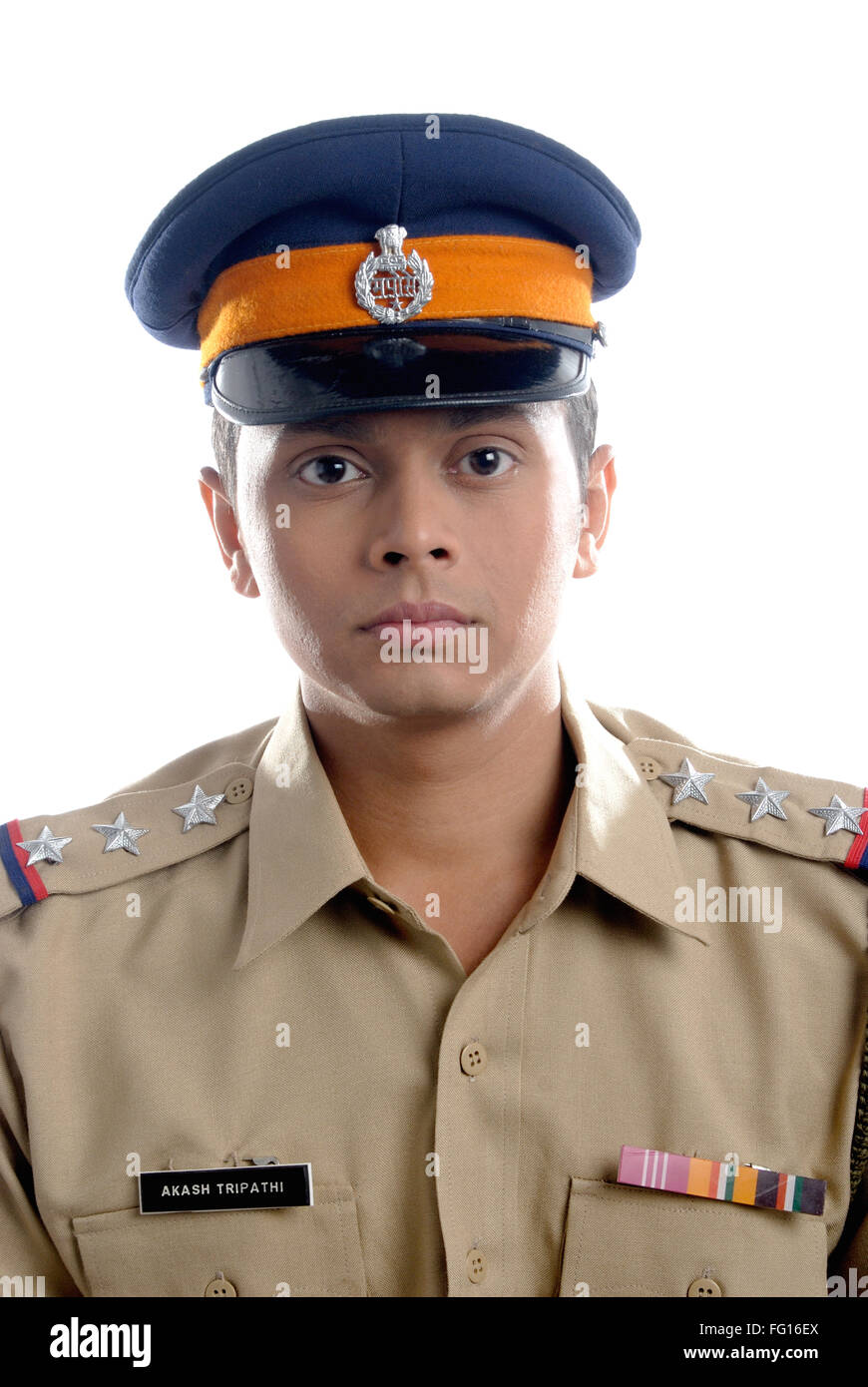 Police Inspector Officer Uniform Stock Photos & Police