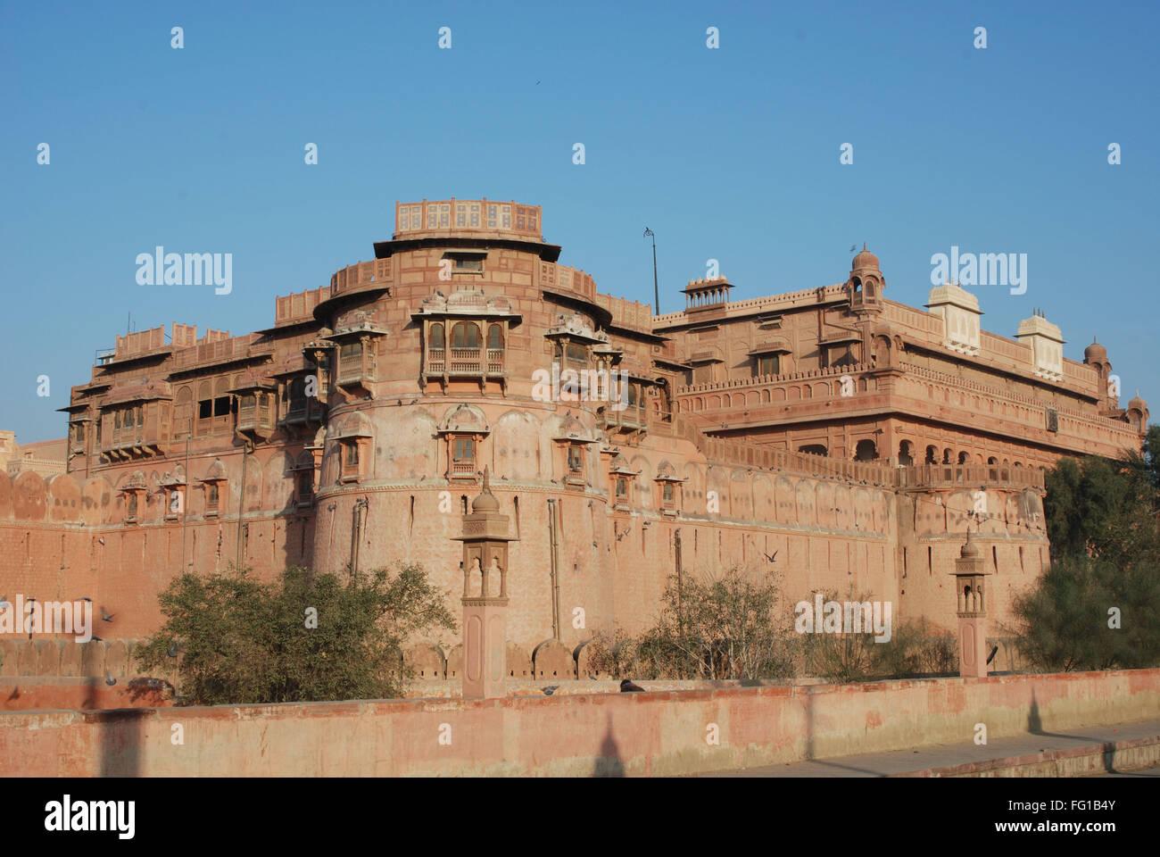 Wide view of Junagarh fort , Bikaner , Rajasthan , India - Stock Image