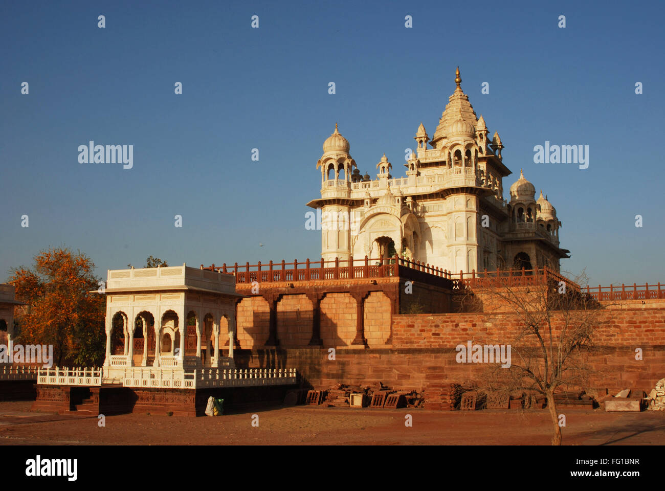 Jaswant Thada from backside view , Jodhpur , Rajasthan , India - Stock Image