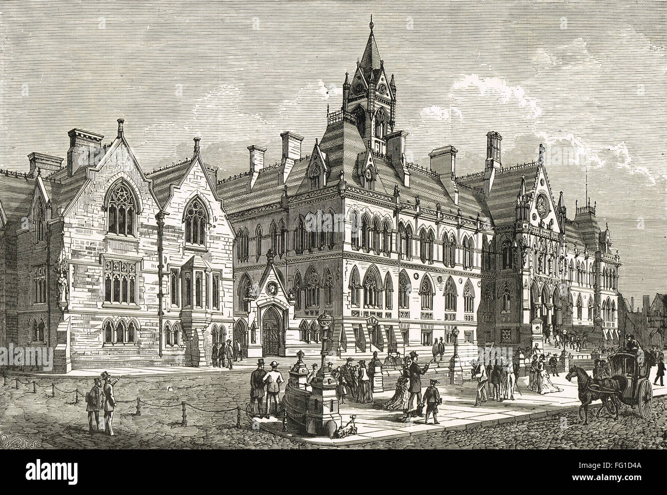 Manchester Assize Courts 1864-1957 - Stock Image