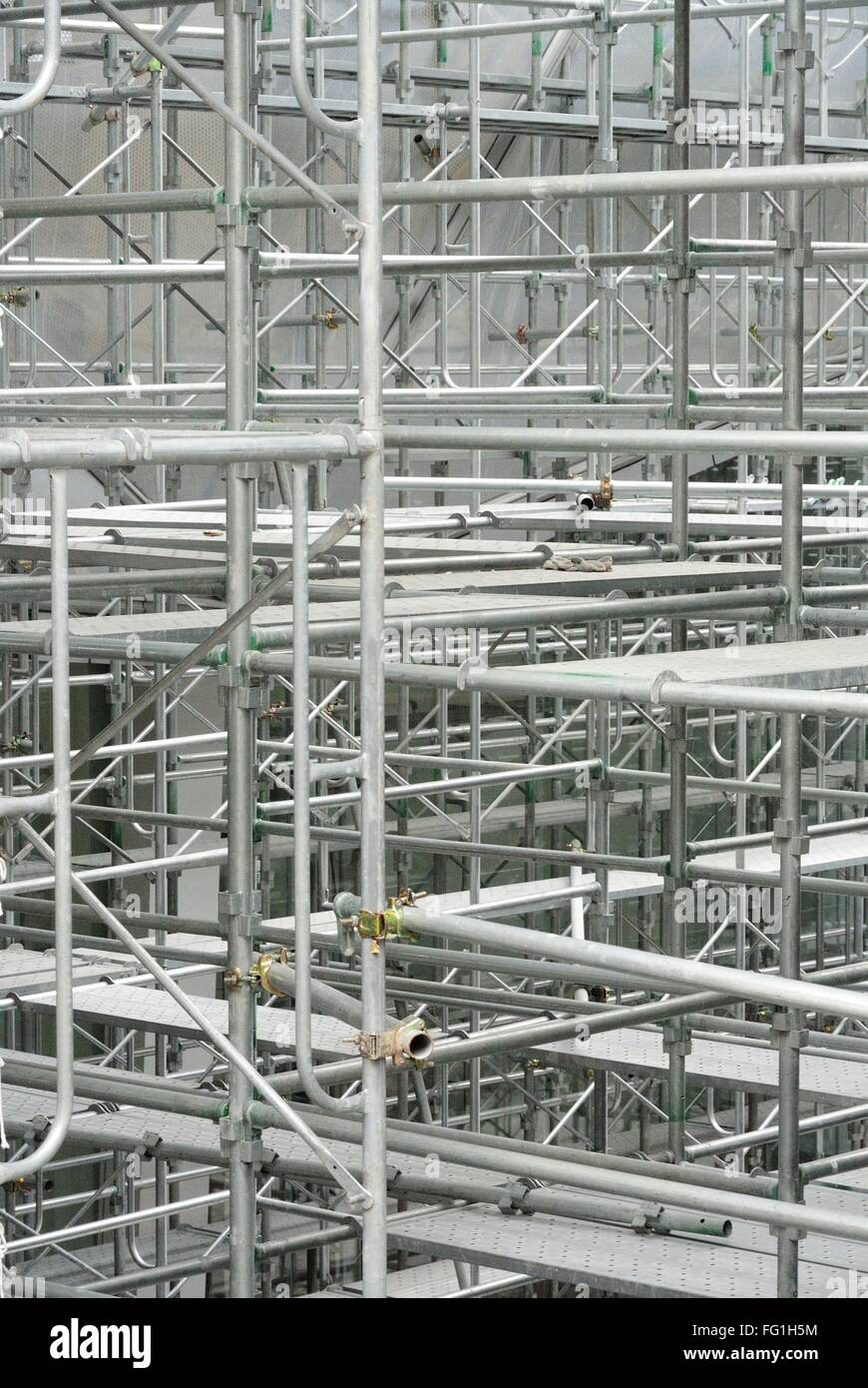 Close-Up View Of Scaffolding - Stock Image