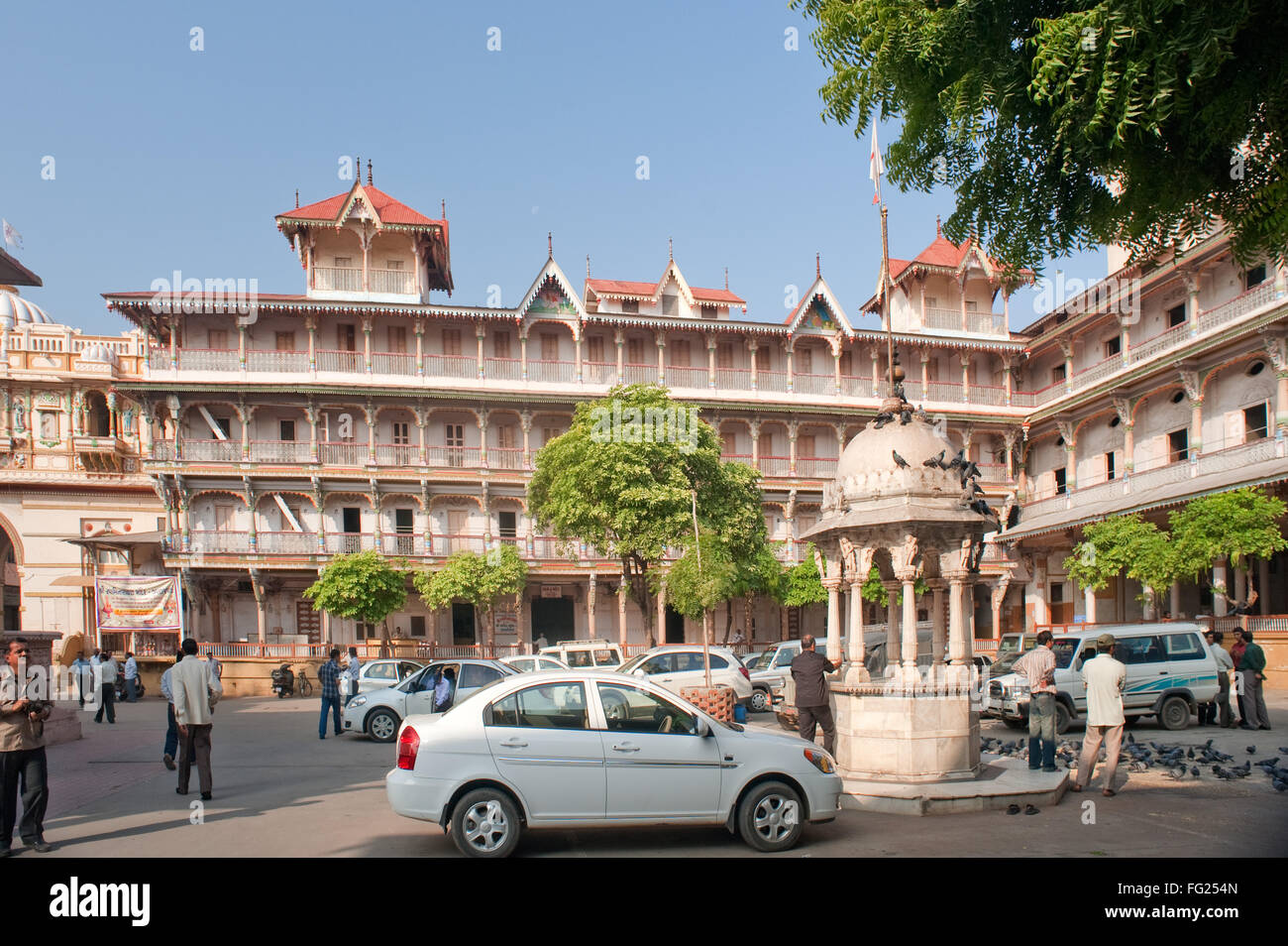 Architecture near swaminarayan temple Ahmedabad Gujarat India - stp 225306 - Stock Image